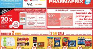 Circulaire Pharmaprix du 21 août au 27 août 2021