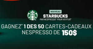 Gagnez 50 cartes cadeaux Nespresso de 150$ chacune