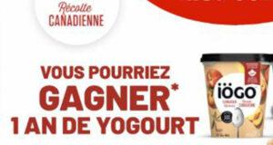 Gagnez 6 x 1 an de yogourt Iögo