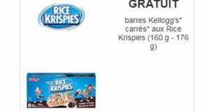 Obtenez gratuitement des carrés aux Rice Krispies de Kellogg's