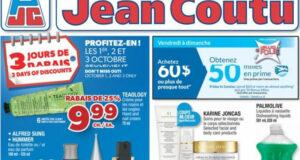 Circulaire Jean Coutu du 30 septembre au 6 octobre 2021