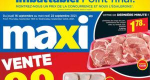 Circulaire Maxi du 16 septembre au 22 septembre 2021