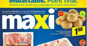 Circulaire Maxi du 9 septembre au 15 septembre 2021