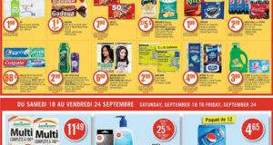 Circulaire Pharmaprix du 18 septembre au 24 septembre 2021