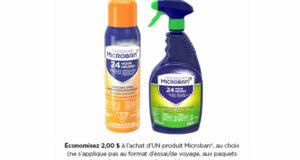 Coupon de 2$ sur un produit Microban au choix