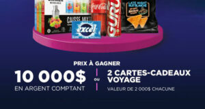 Gagnez 10 000 $ en argent + 2 cartes-cadeaux voyage de 2000 $
