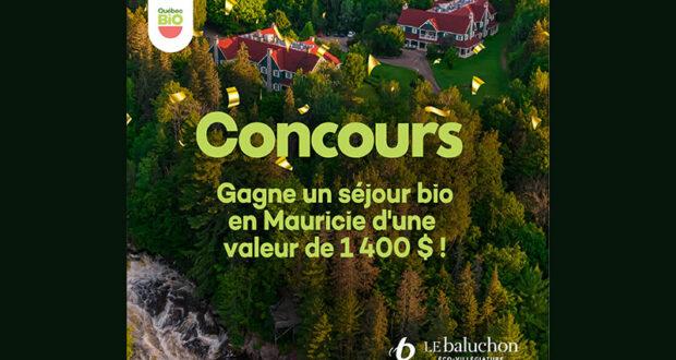 Gagnez un séjour bio écoresponsable en Mauricie (Valeur de 1400 $)