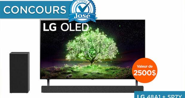 Gagnez un téléviseur & une barre de son LG (Valeur de 2500 $)