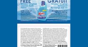 Obtenez gratuitement une recharge du Nettoyant Windex Original