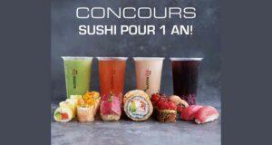 Gagnez 1 an de Sushi