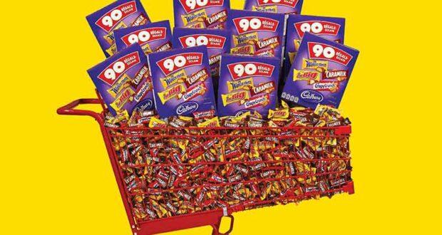 Gagnez un immense panier de 4500 Barres de Chocolat Cadbury